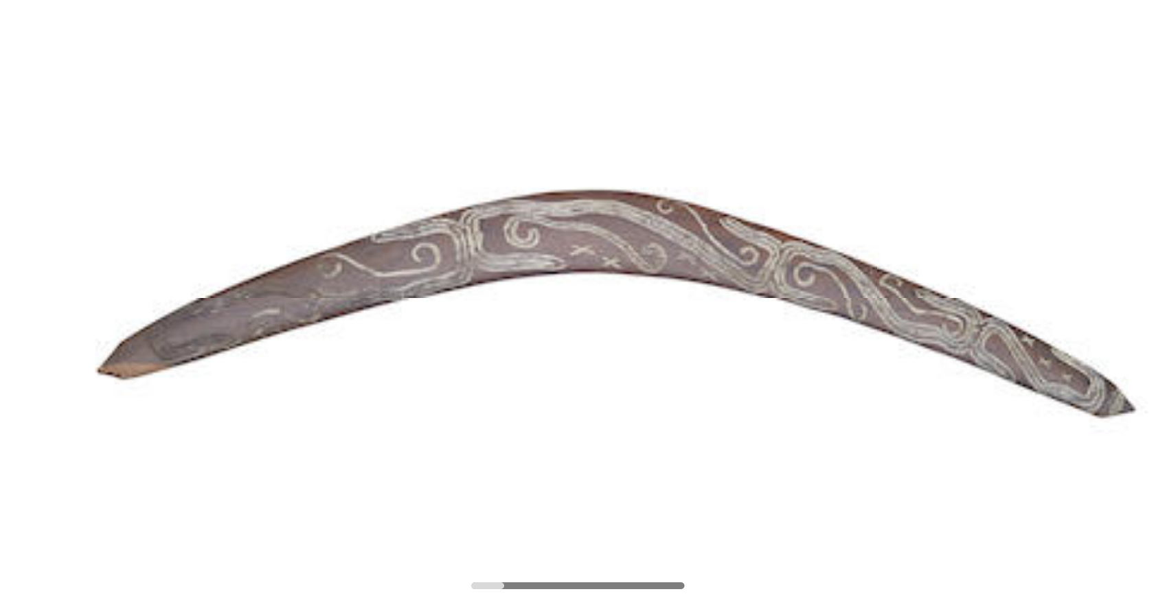 A Boomerang, South Western Queensland or Far Western New South Wales