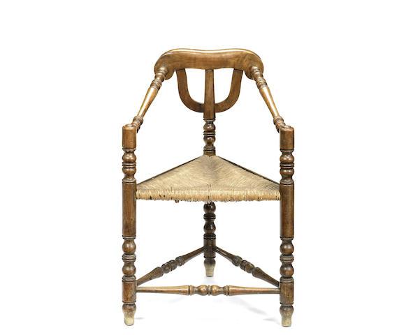 A Victorian ash Turner's chair
