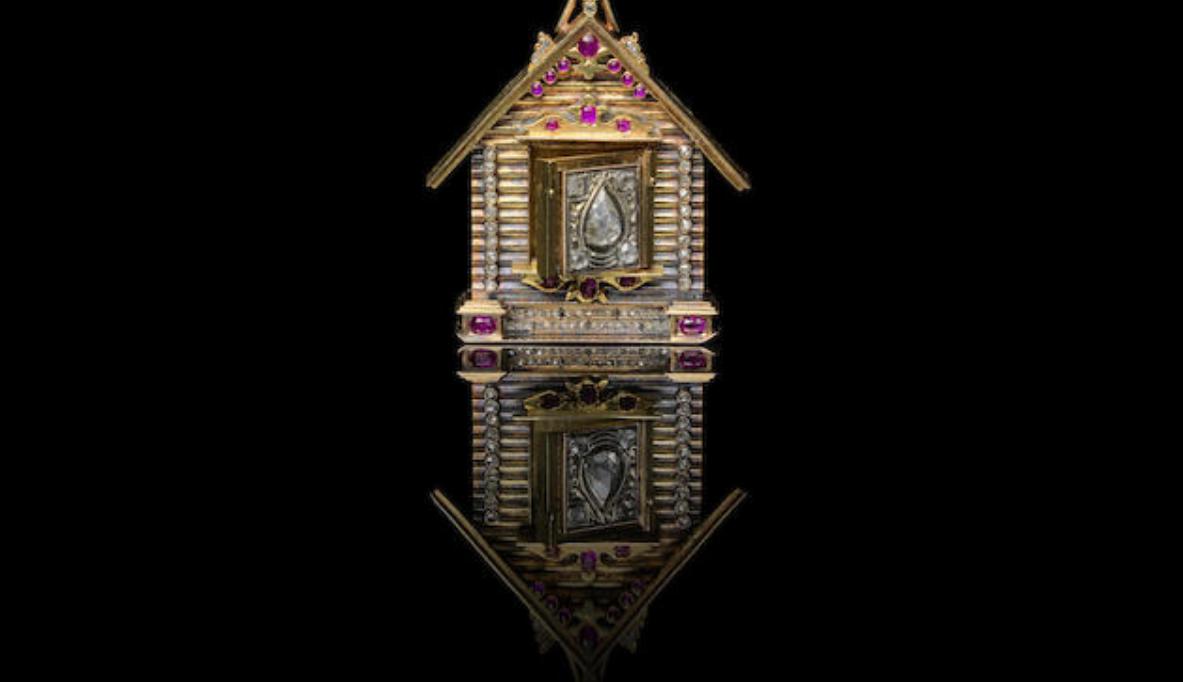 A jewelled gold locket