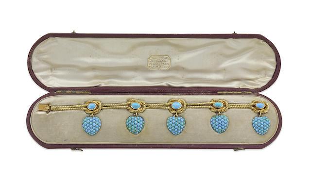 A Victorian turquoise bracelet