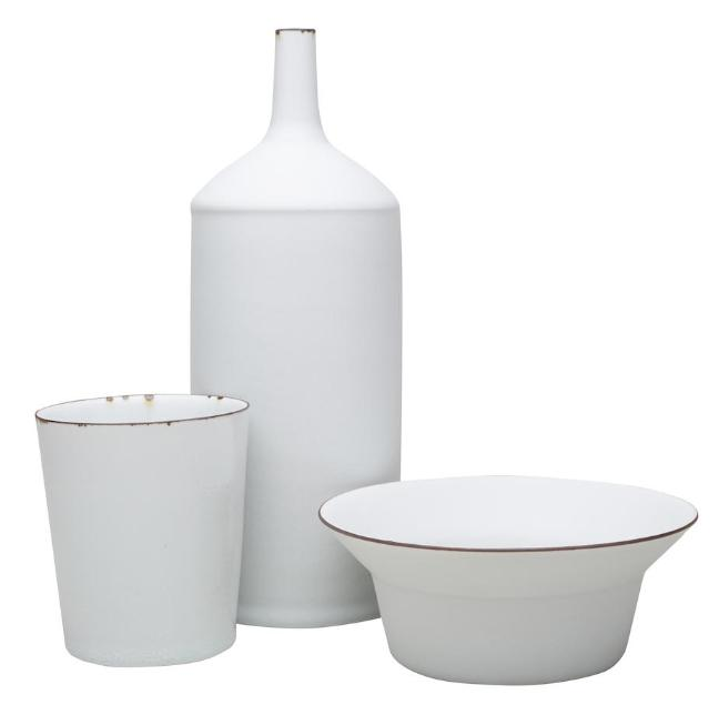 Oil Can, Cup and Bowl