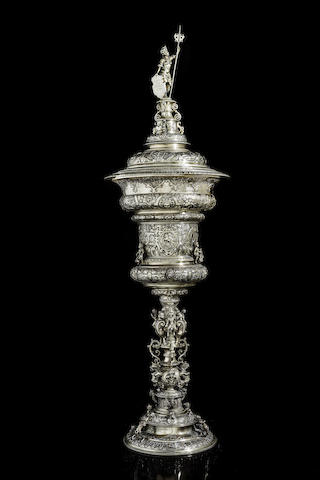 A silver-gilt presentation cup and cover