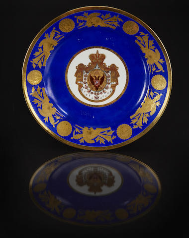 A porcelain plate from the coronation service of Nicholas I