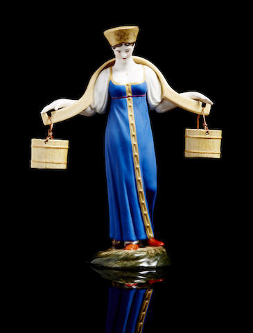 A porcelain figure of water carrier 'Vodonoska'