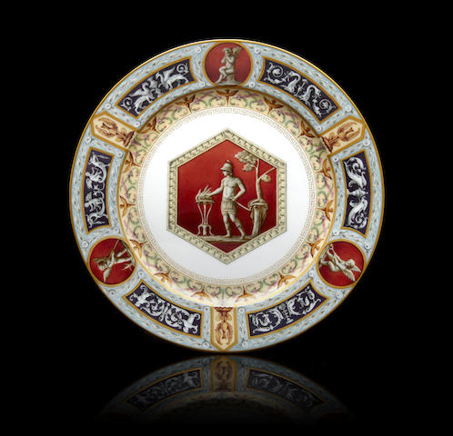 A porcelain dinner plate from the Raphael Service