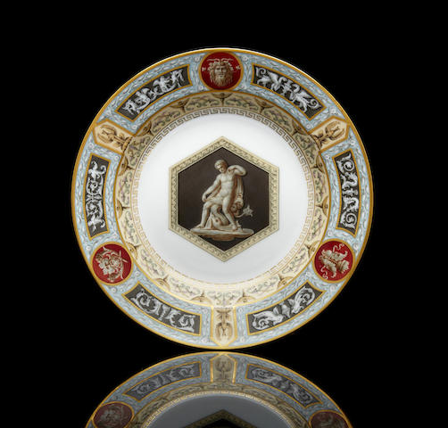 A porcelain soup plate from the Raphael Service