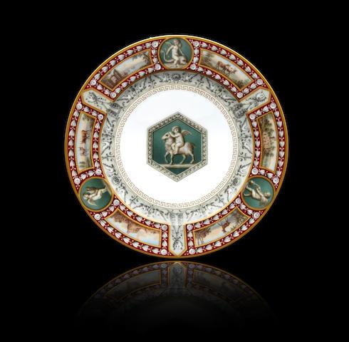 A porcelain 'zakuski' plate from the Raphael Service