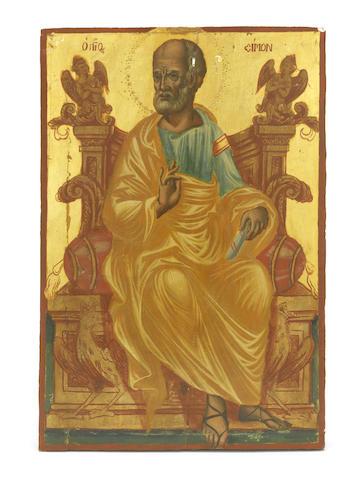 Three Icons of Saints Peter, Matthew and Simon