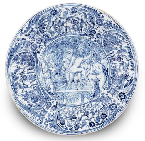A Ligurian faience dish, probably Albisola or Savona