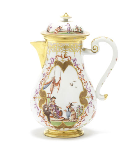 A Meissen small coffee pot and cover