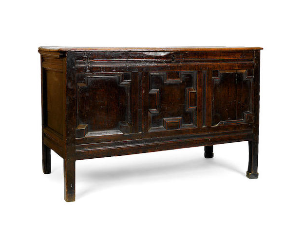 A late 17th/ early 18th century oak coffer