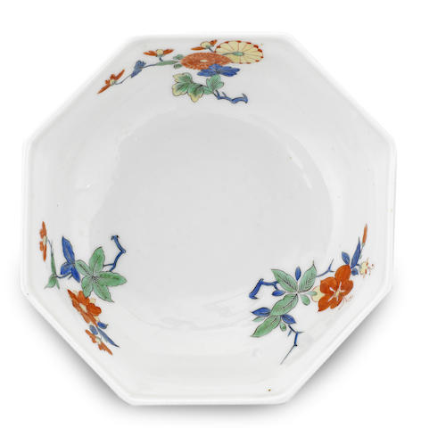 A Meissen octagonal dish
