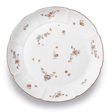 A Meissen lobed dish