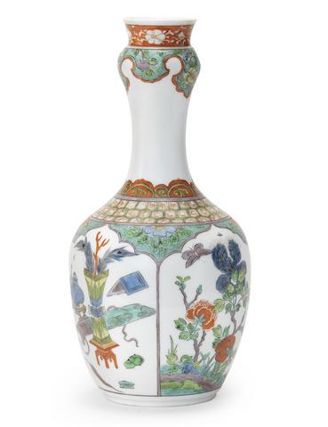 A very rare Meissen Famille verte vase