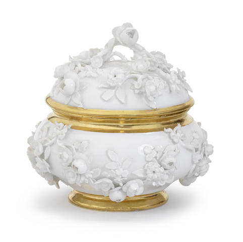 A very rare Meissen royal écuelle and cover