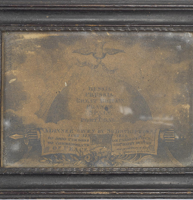 A Regency admission ticket to the subscription dinner in Cambridge on July 12 1814