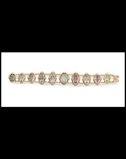 A Victorian gem-set bracelet