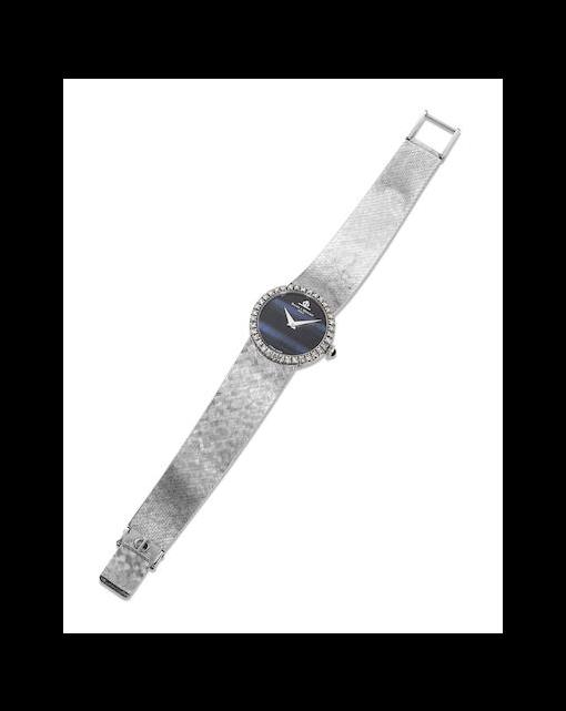 A lady's diamond wristwatch, by Baume & Mercier