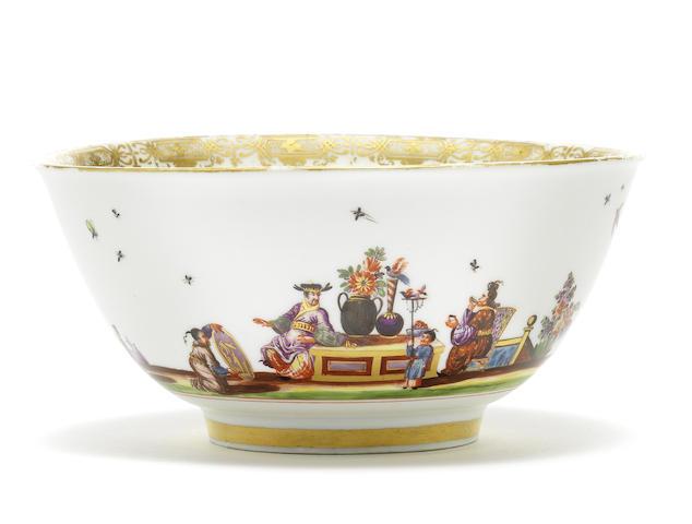 A Meissen waste bowl