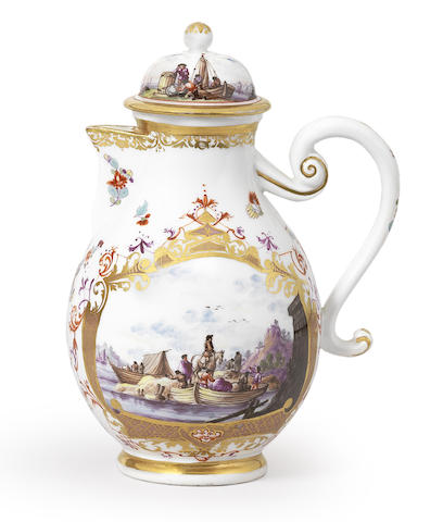 A Meissen coffee pot and cover