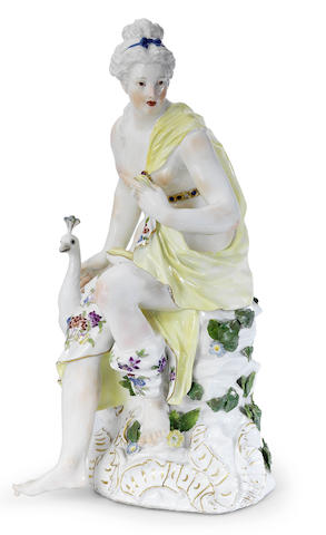 A large Meissen figure of Juno