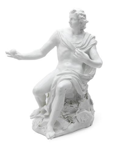A large Meissen figure of Paris