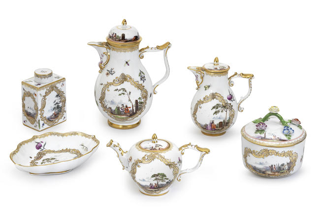 A Meissen part tea and coffee service