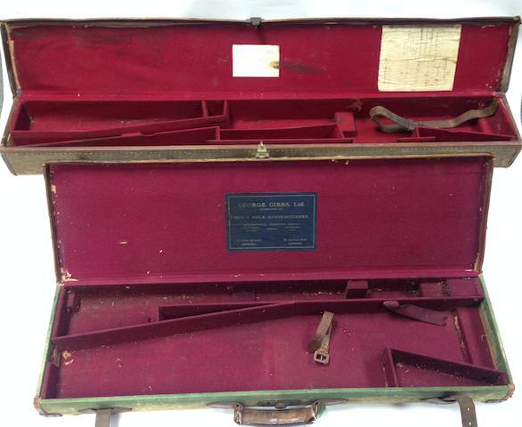 A full-length canvas rifle-case
