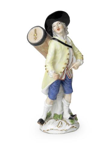 A Meissen 'Cris de Paris' figure of a lottery seller