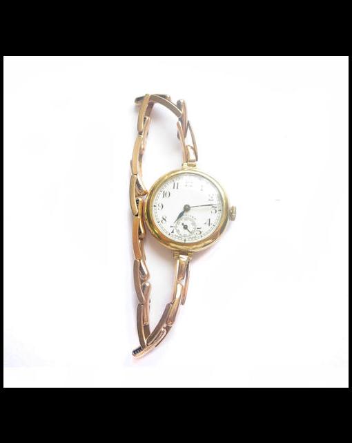 A lady's 18ct gold wristwatch