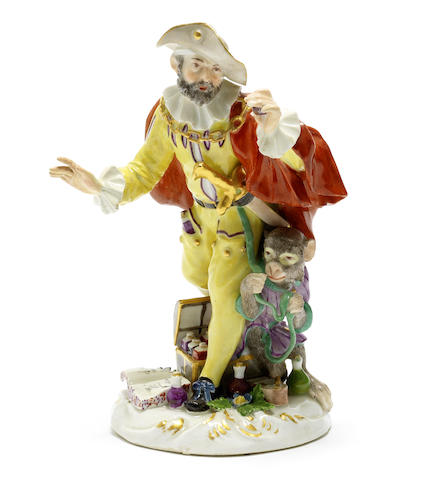 A Meissen 'Cryes of London' figure of the Quack Doctor