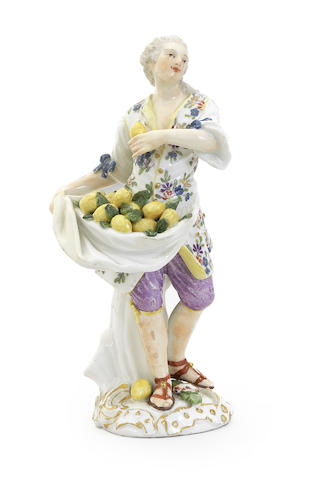 A Meissen figure of a lemon seller