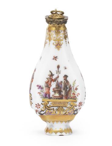 A Meissen scent flask