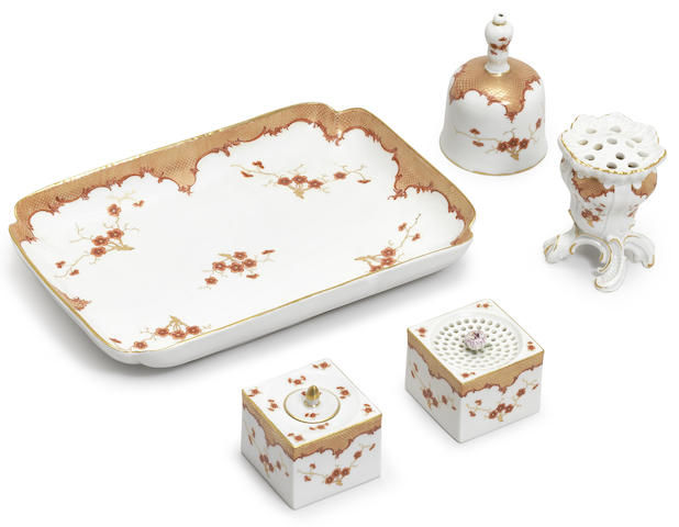A Meissen desk set
