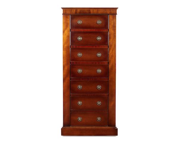 A 21st Century modern mahogany gun cabinet