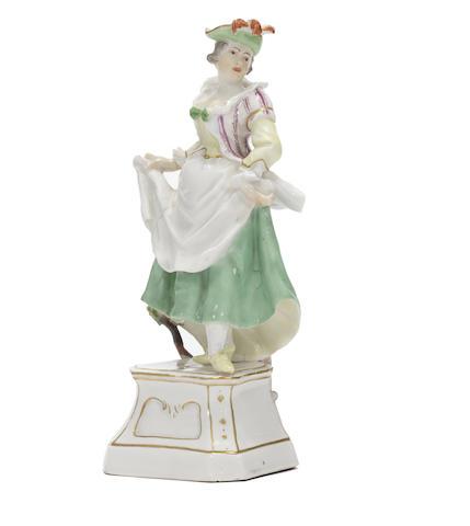 A rare Höchst figure of La Scaramouche from the Italian Comedy