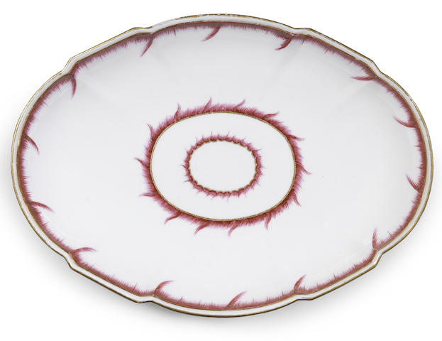 A Vincennes oval dish