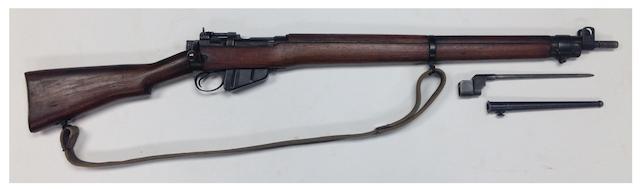 A deactivated .303 SMLE no. 4 Mk I bolt-magazine rifle, no. 29L1169
