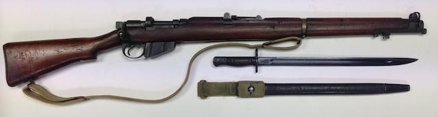 A deactivated .303 SMLE Mark III bolt-magazine rifle