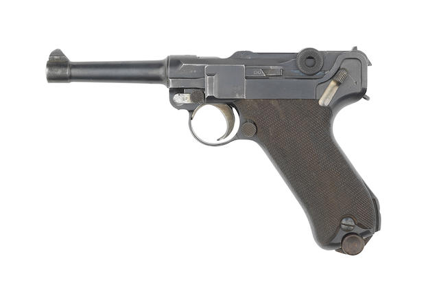A deactivated 9mm '1916 model' semi-automatic pistol by D.W.M, no. 5700