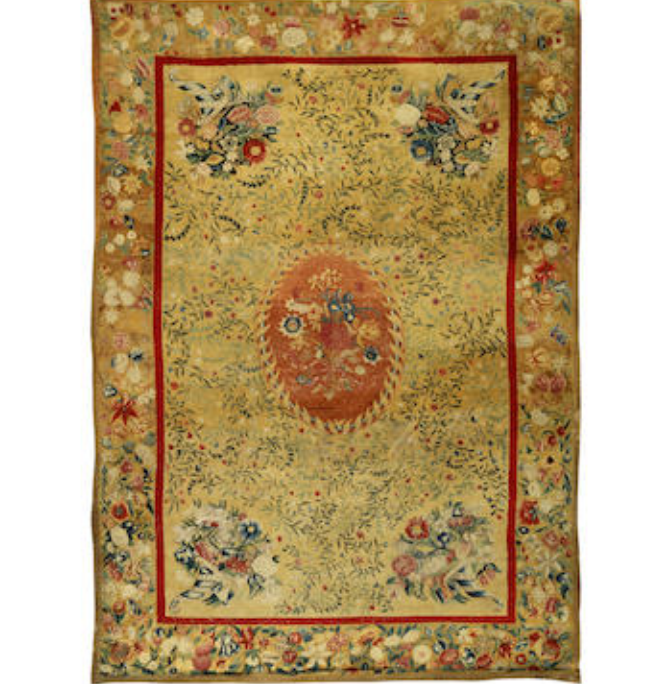 A late 19th century Axminster style tufted carpet