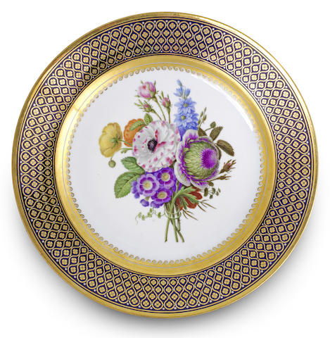 A Sèvres dessert plate