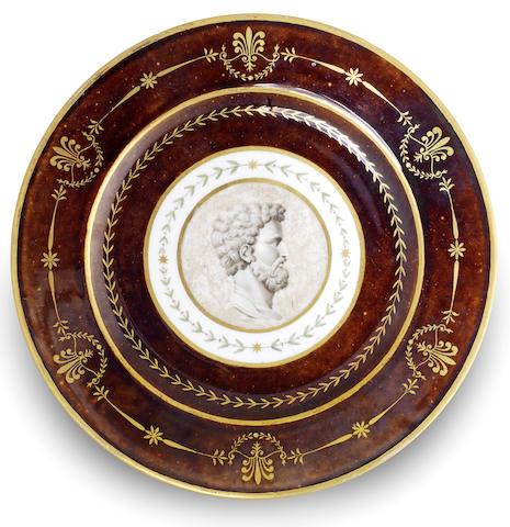 A Sèvres cameo portrait plate