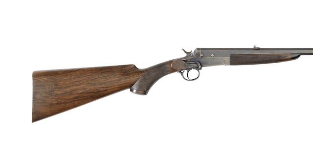 A .300 hammer rook rifle by H. J. Hussey, no. 103
