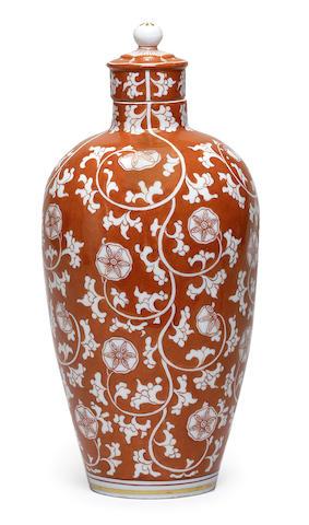 A Meissen Jugendstil vase and cover