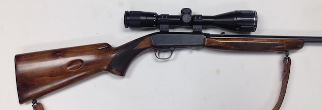 A .22(L.R.) semi-automatic rifle by F.N., no. 56179