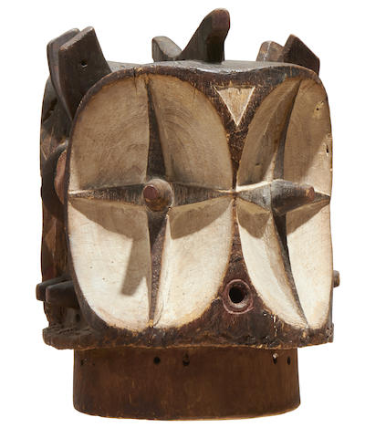 Exceptional Bembe Janus Helmet Mask, Democratic Republic of the Congo