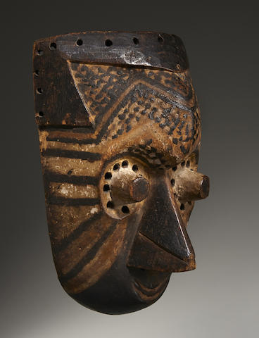 Fine Kuba Mask, Democratic Republic of the Congo