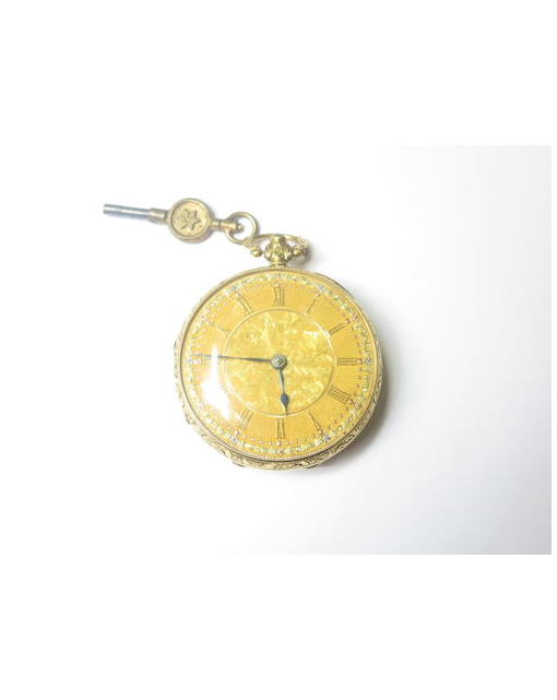 An 18ct gold open-faced pocket watch