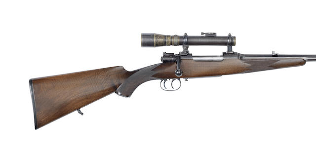 A 7.9mm Mauser sporting rifle by E. Beyer, no. 9926